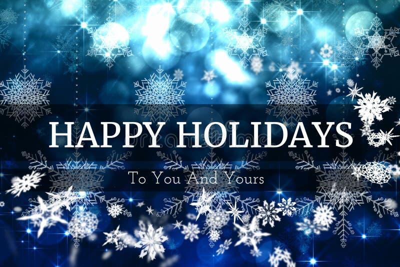 Σχέδιο μηνυμάτων Χριστουγέννων Snowflake ελεύθερη απεικόνιση δικαιώματος