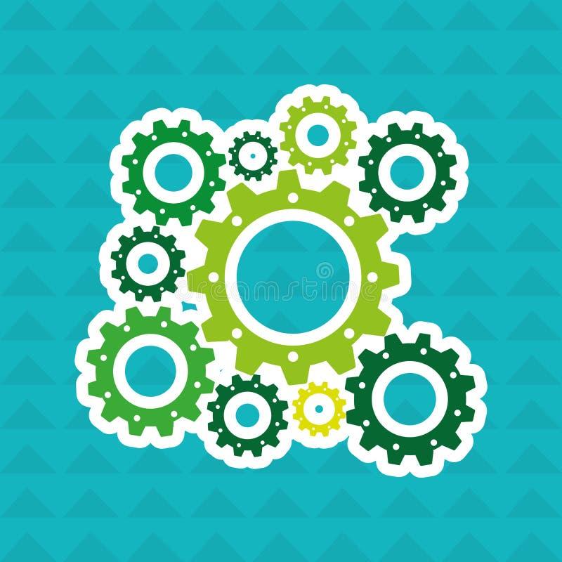 Σχέδιο μηχανών εργαλείων ελεύθερη απεικόνιση δικαιώματος