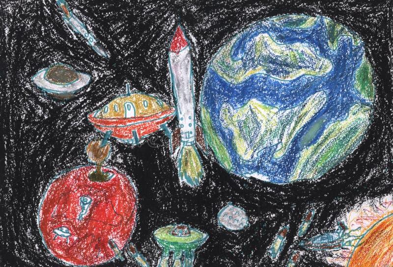 Σχέδιο μολυβιών παιδιών στοκ εικόνα με δικαίωμα ελεύθερης χρήσης