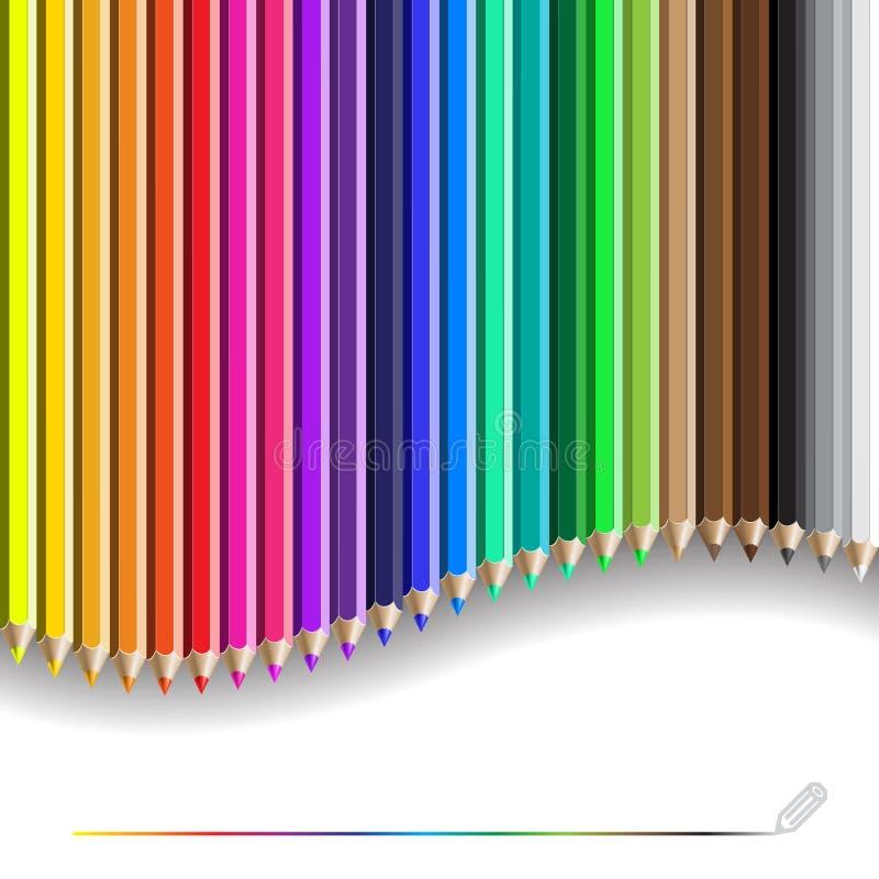 Σχέδιο μολυβιών χρώματος ελεύθερη απεικόνιση δικαιώματος