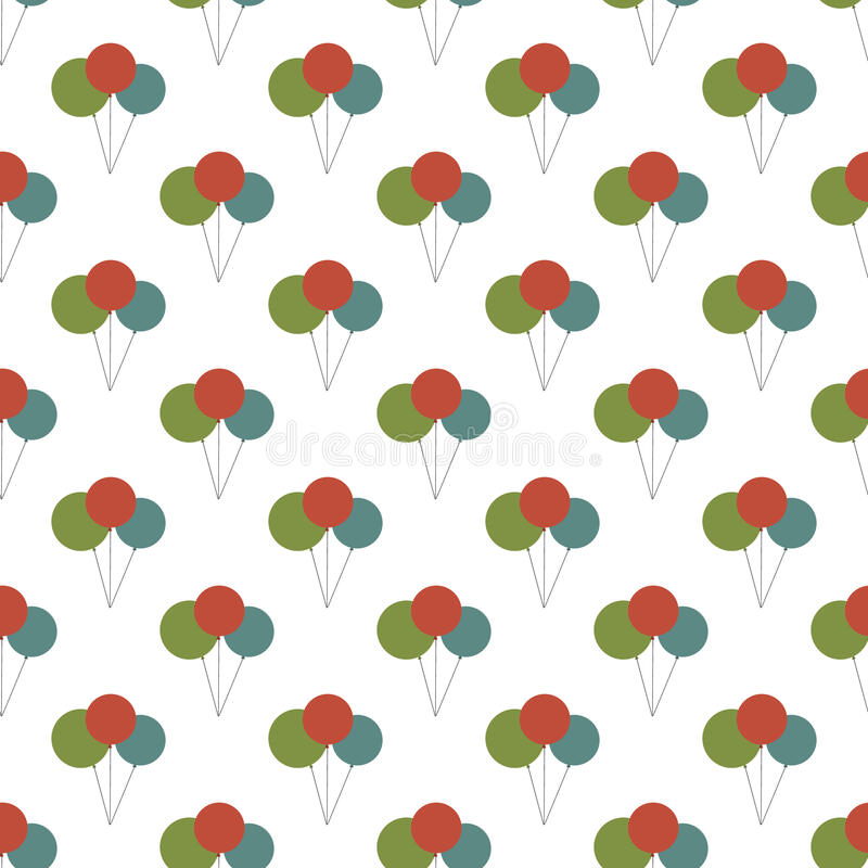 Σχέδιο μπαλονιών γενεθλίων άνευ ραφής απεικόνιση αποθεμάτων