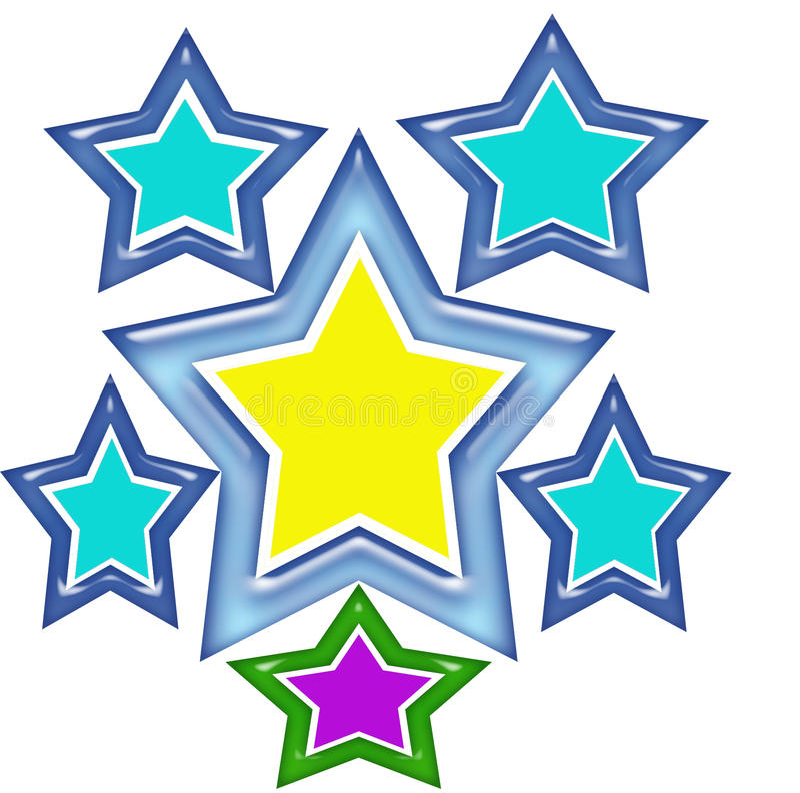 Σχέδιο μπλουζών αστεριών απεικόνιση αποθεμάτων