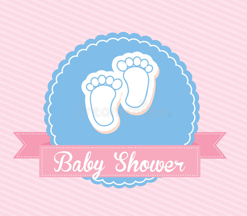 Σχέδιο ντους μωρών απεικόνιση αποθεμάτων