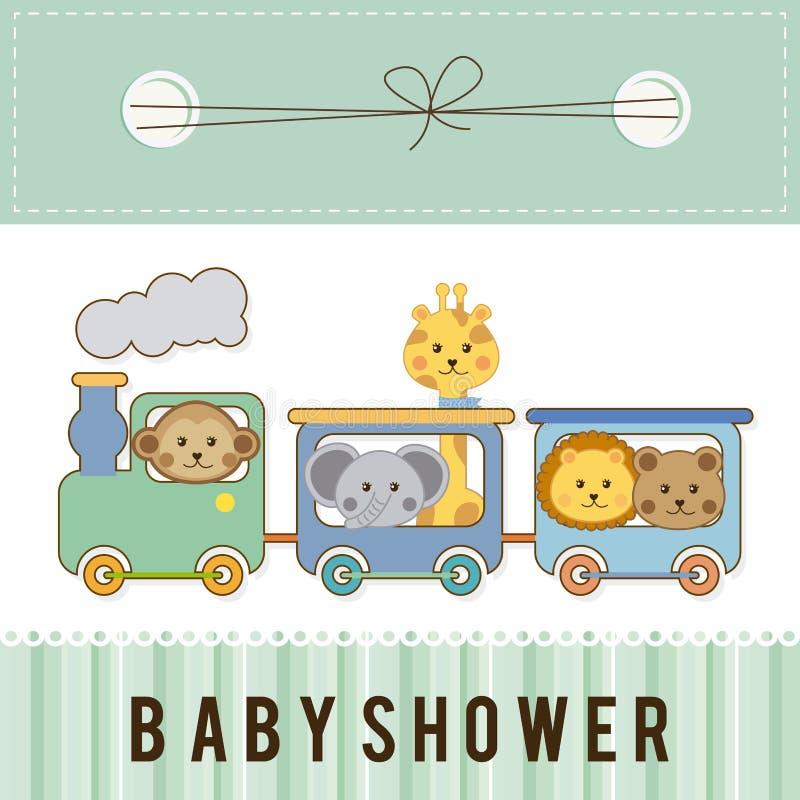 Σχέδιο ντους μωρών διανυσματική απεικόνιση
