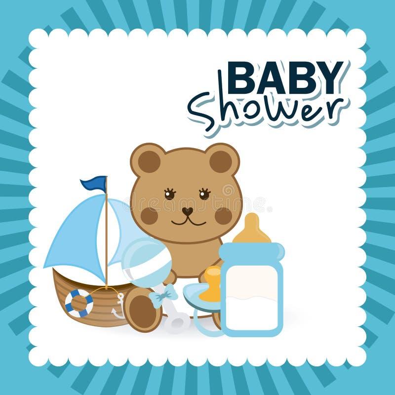 Download Σχέδιο ντους μωρών διανυσματική απεικόνιση. εικονογραφία από μπέρμιγχαμ - 62704162