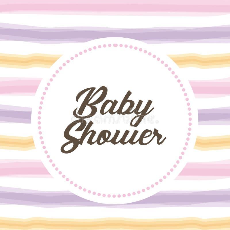Σχέδιο ντους μωρών ελεύθερη απεικόνιση δικαιώματος