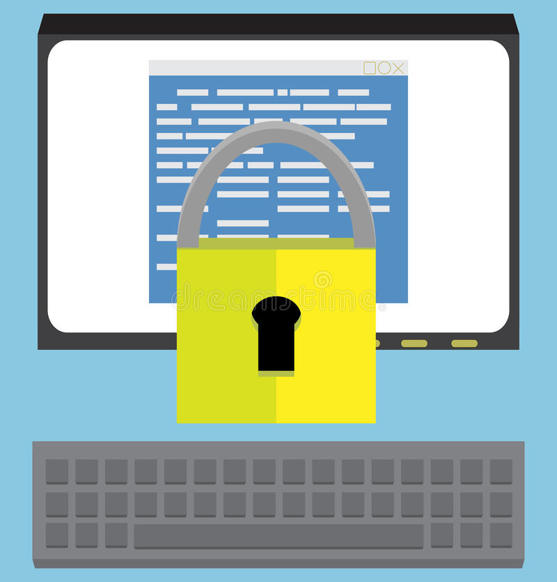 Σχέδιο λογισμικού προστασίας απεικόνιση αποθεμάτων