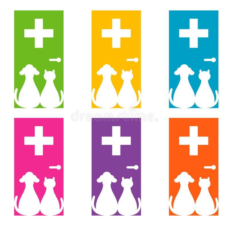 Σχέδιο λογότυπων για κτηνιατρικό ελεύθερη απεικόνιση δικαιώματος