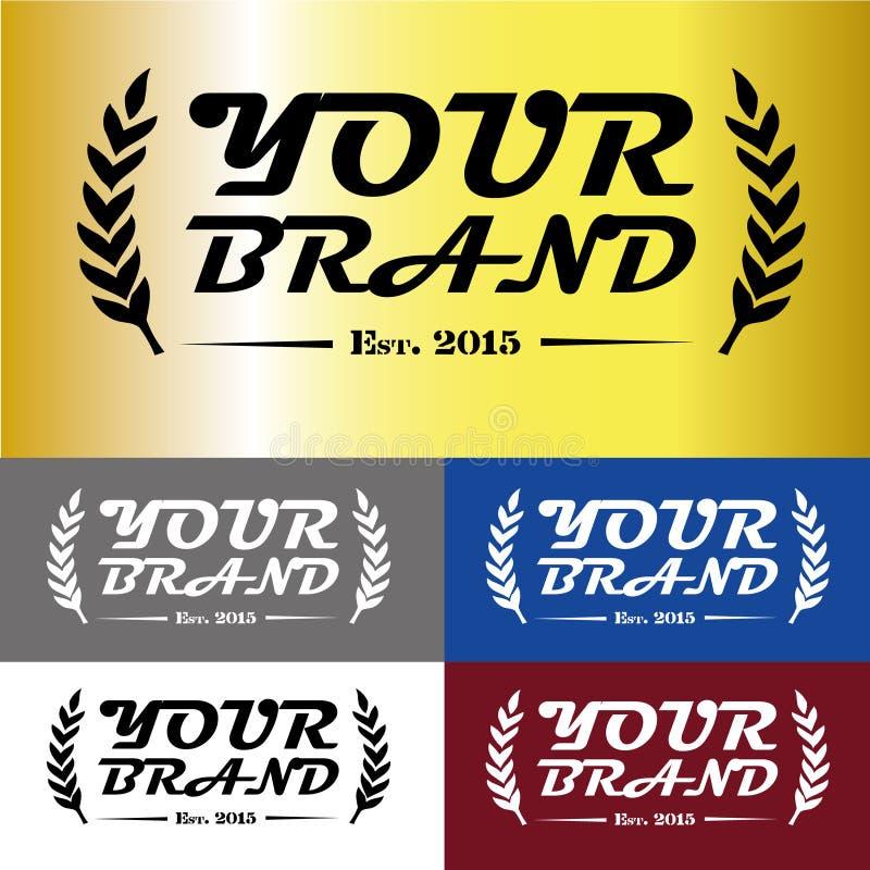 Σχέδιο λογότυπων εμπορικών σημάτων πολυτέλειας στοκ φωτογραφία με δικαίωμα ελεύθερης χρήσης