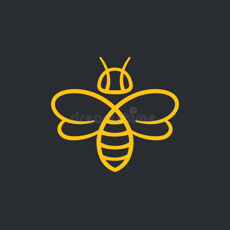 Σχέδιο λογότυπων μελισσών ελεύθερη απεικόνιση δικαιώματος