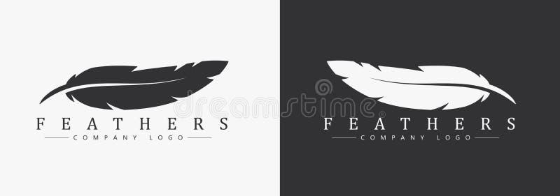 Σχέδιο λογότυπων με το όνομα φτερών και επιχείρησης, για έναν συγγραφέα ελεύθερη απεικόνιση δικαιώματος
