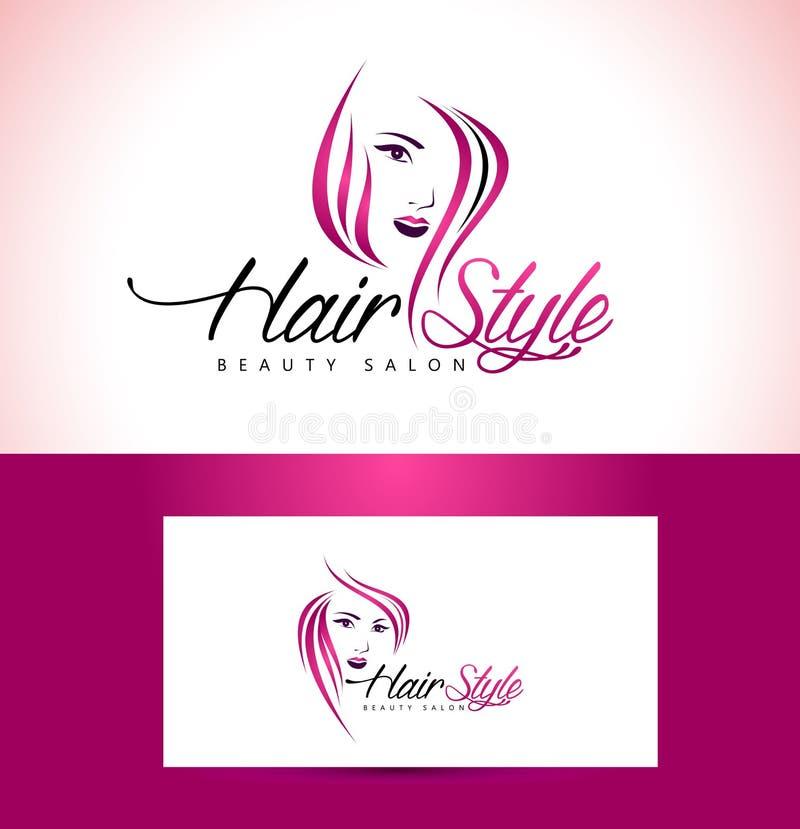 Σχέδιο λογότυπων σαλονιών Hairstyle ελεύθερη απεικόνιση δικαιώματος