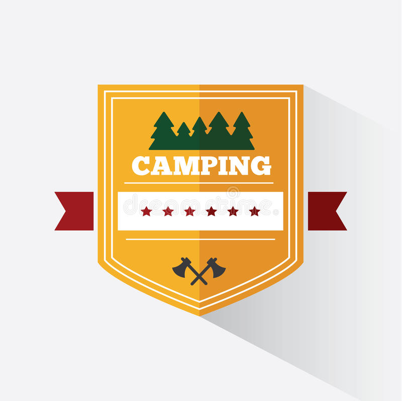 Σχέδιο λογότυπων στρατοπέδευσης διανυσματική απεικόνιση