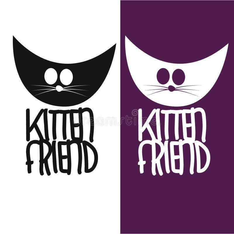 Σχέδιο λογότυπων φίλων γατακιών στοκ φωτογραφία με δικαίωμα ελεύθερης χρήσης