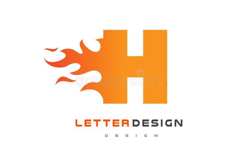 Σχέδιο λογότυπων φλογών επιστολών Χ Έννοια εγγραφής λογότυπων πυρκαγιάς ελεύθερη απεικόνιση δικαιώματος