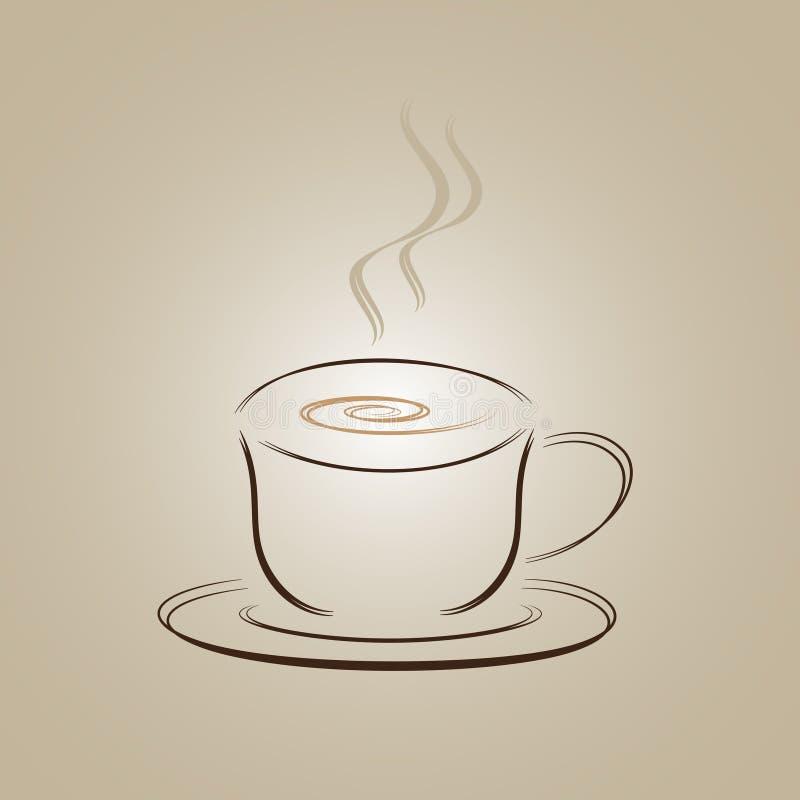 Σχέδιο λογότυπων φλυτζανιών καφέ στοκ εικόνες
