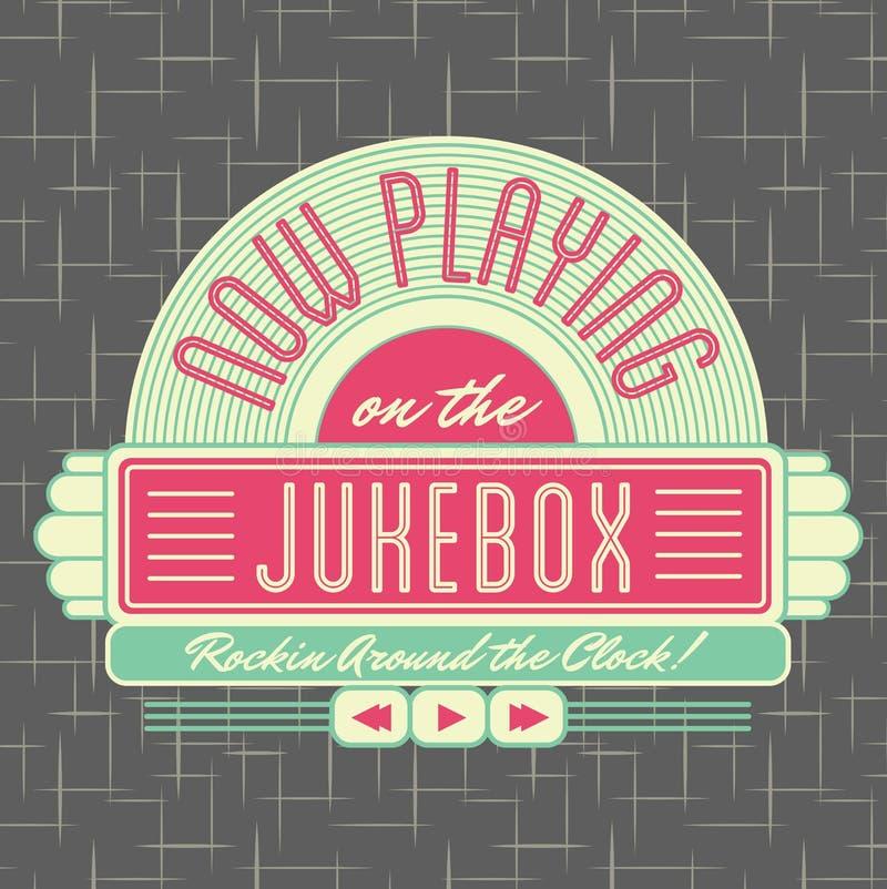 σχέδιο λογότυπων ύφους Jukebox της δεκαετίας του '50 ελεύθερη απεικόνιση δικαιώματος