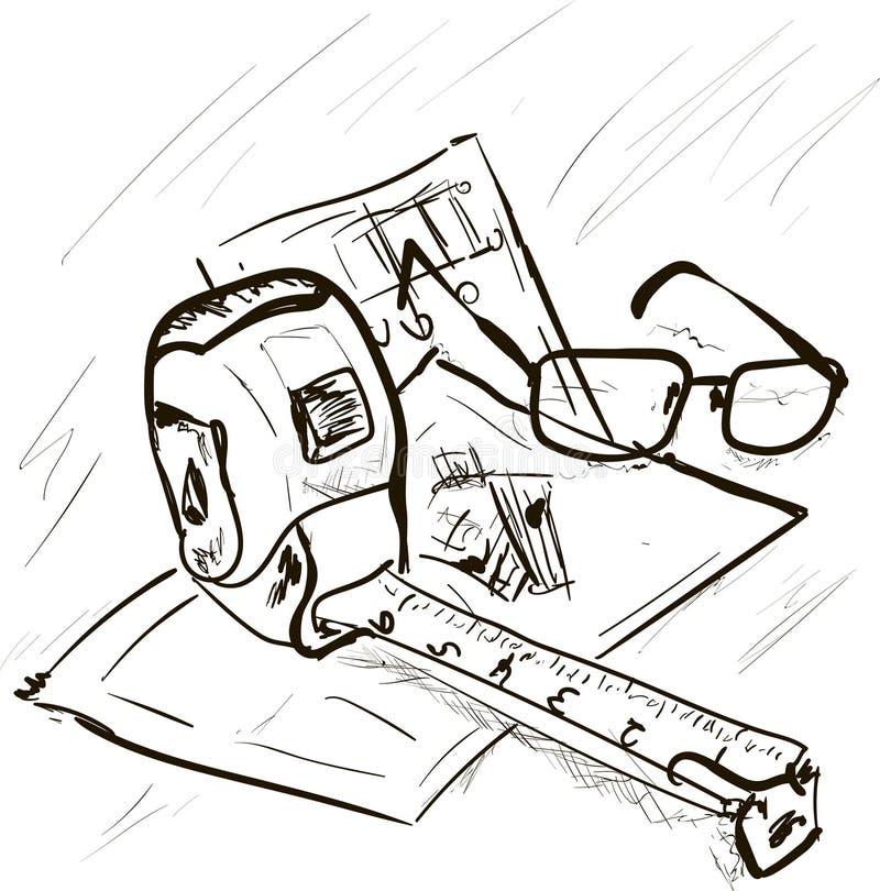 Σχέδιο οικοδόμησης απεικόνιση αποθεμάτων