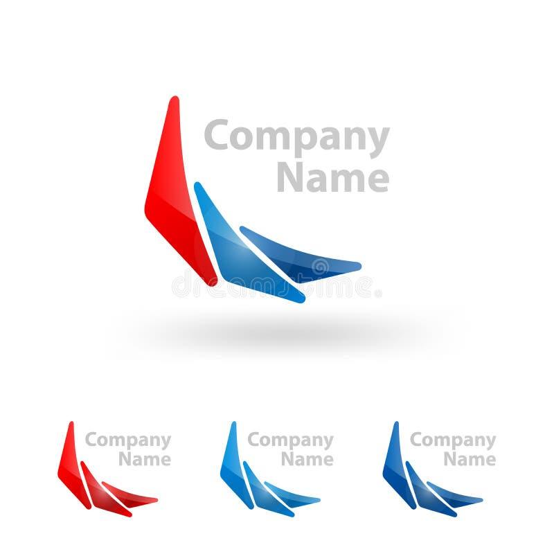 Σχέδιο ονόματος επιχείρησης λογότυπων τριγώνων διανυσματική απεικόνιση