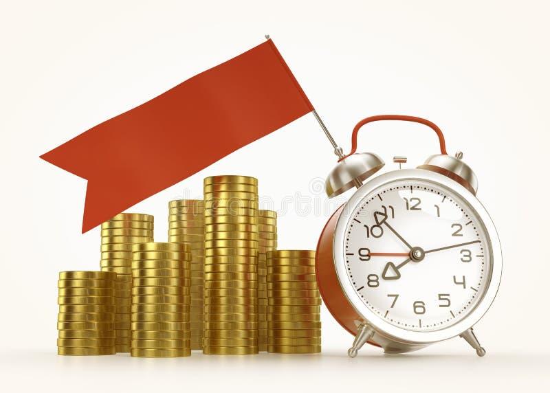 Σχέδιο ο επιχειρησιακός χρόνος - γραφικό πρότυπο απεικόνιση αποθεμάτων