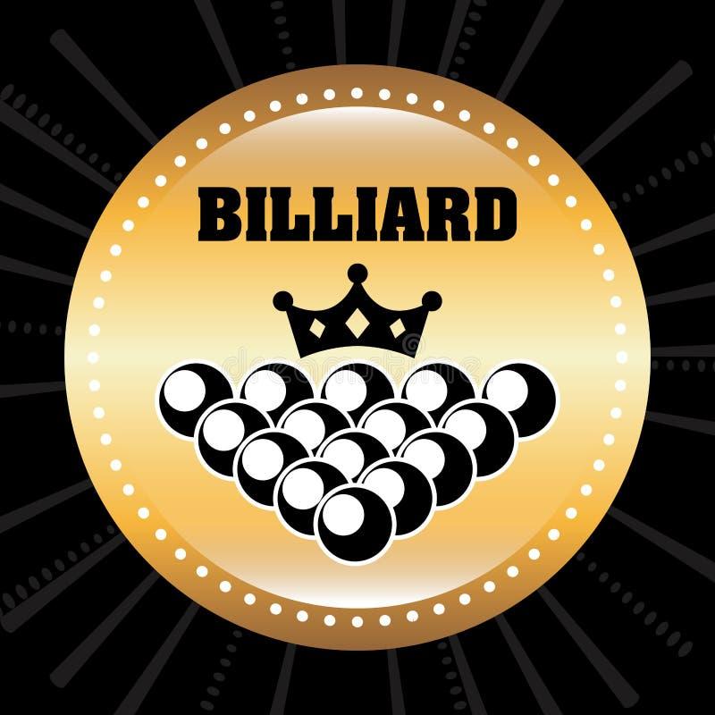 Download Σχέδιο παιχνιδιού μπιλιάρδου Διανυσματική απεικόνιση - εικονογραφία από αίθουσα, κορώνα: 62704699