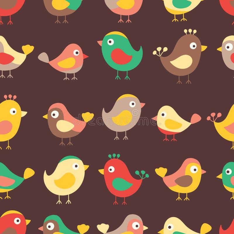 Σχέδιο παιδιών πουλιών διανυσματική απεικόνιση