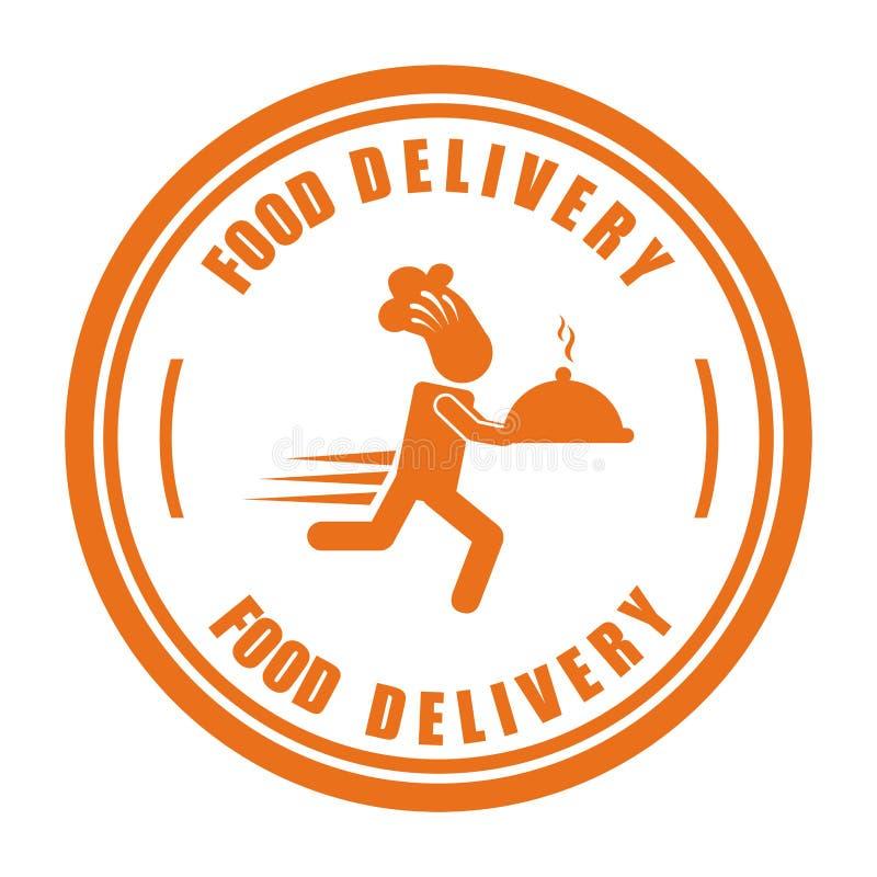 Σχέδιο παράδοσης τροφίμων διανυσματική απεικόνιση