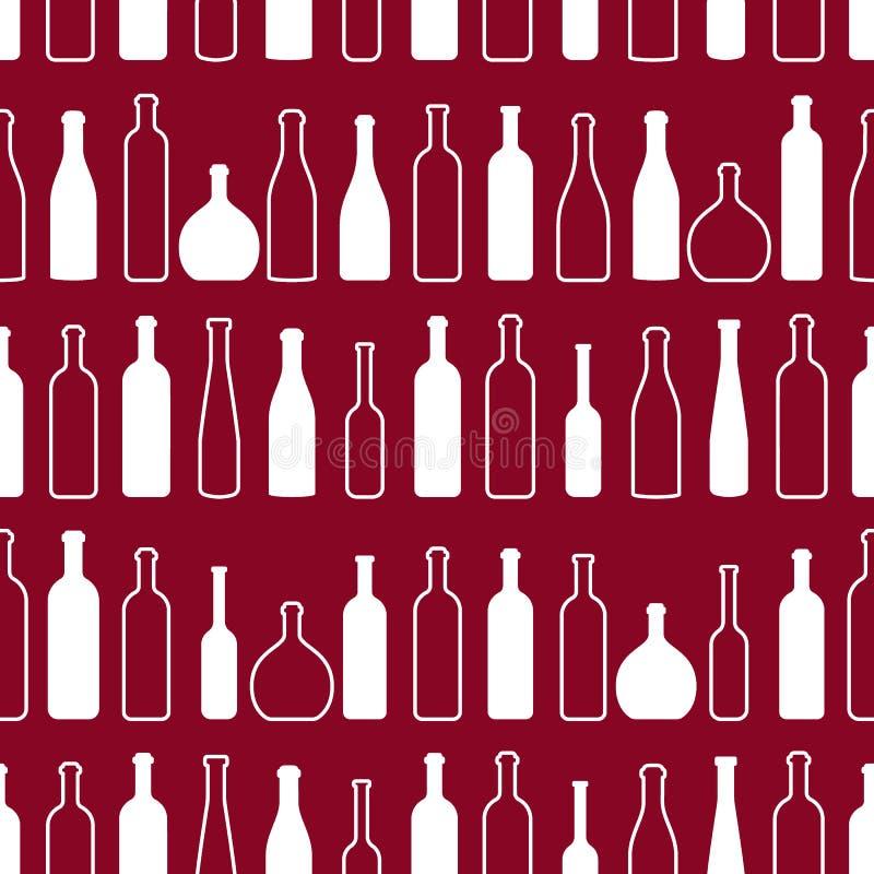 Σχέδιο περιλήψεων μπουκαλιών κρασιού ελεύθερη απεικόνιση δικαιώματος
