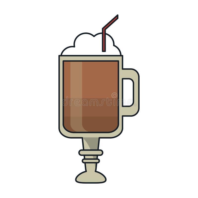 Σχέδιο ποτών γυαλιού καφέ απεικόνιση αποθεμάτων