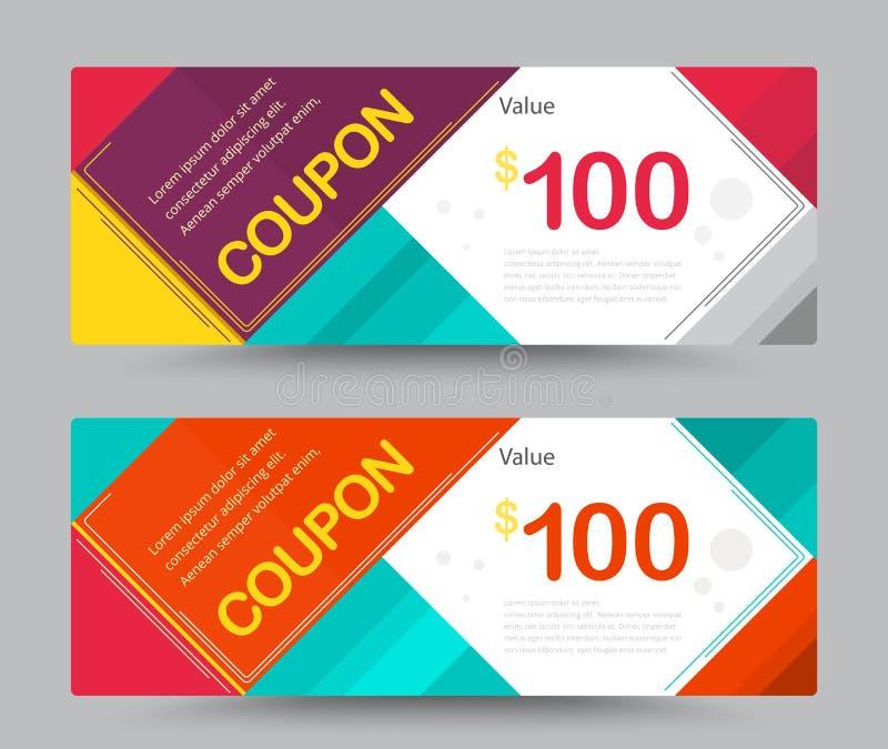 Σχέδιο προτύπων καρτών αποδείξεων δώρων για τον ειδικό χρόνο, temp δελτίων ελεύθερη απεικόνιση δικαιώματος