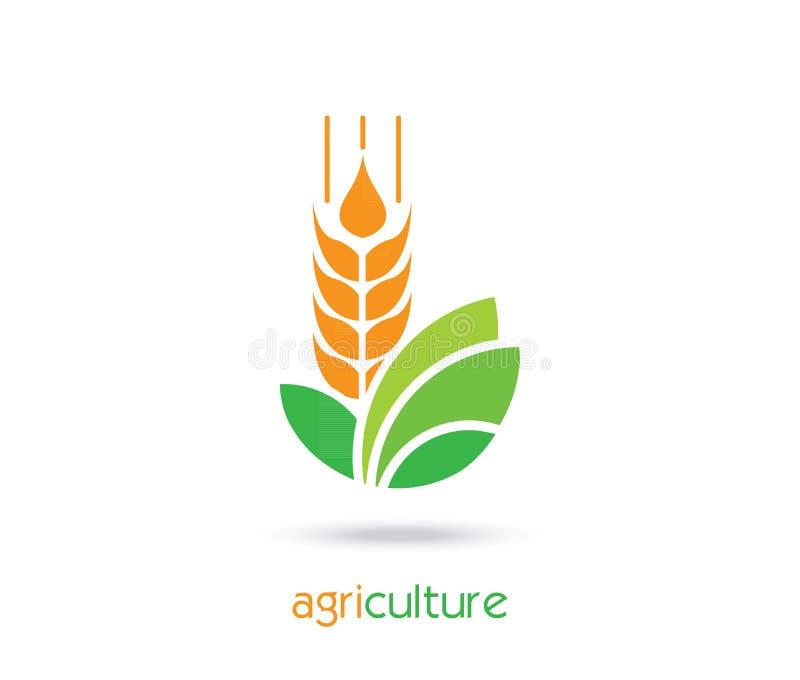 Σχέδιο προτύπων λογότυπων γεωργίας Εικονίδιο, σημάδι ή σύμβολο απεικόνιση αποθεμάτων