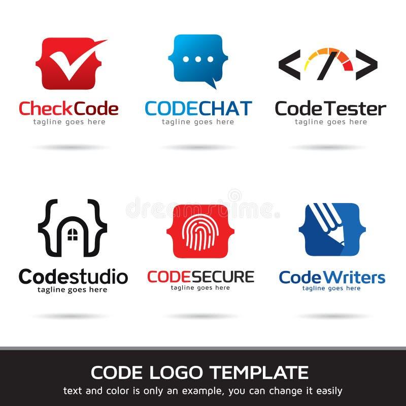 Σχέδιο προτύπων λογότυπων κώδικα απεικόνιση αποθεμάτων
