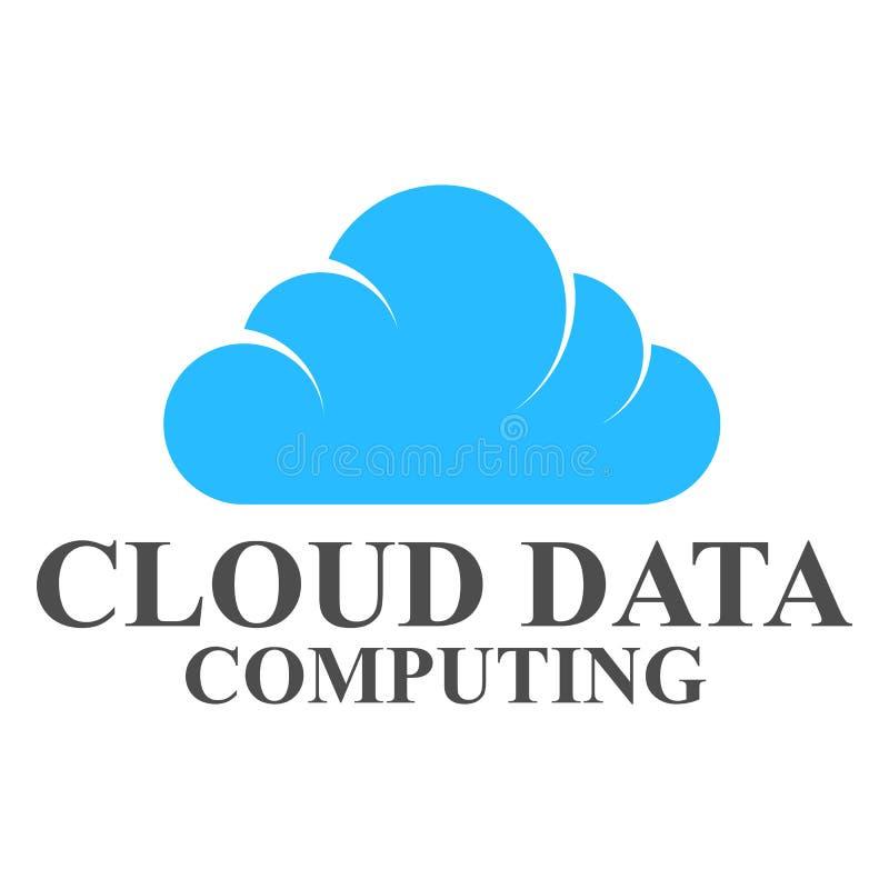 Σχέδιο προτύπων λογότυπων στοιχείων σύννεφων απεικόνιση αποθεμάτων