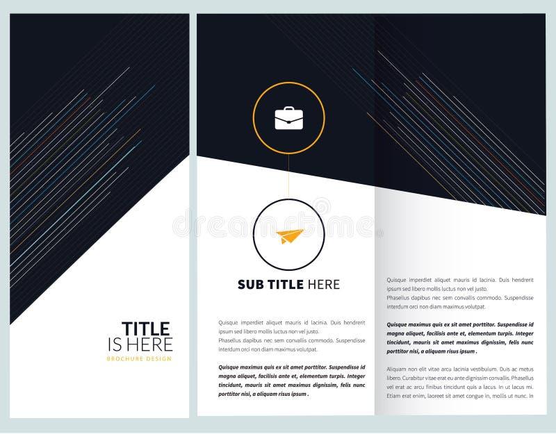 Σχέδιο προτύπων φυλλάδιων ελεύθερη απεικόνιση δικαιώματος