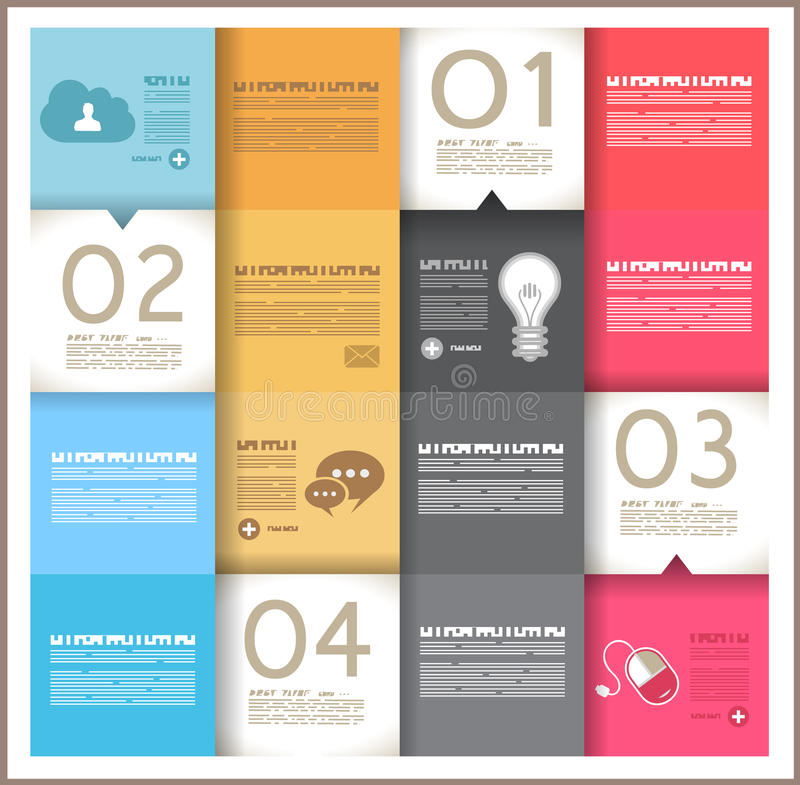 Σχέδιο προτύπων Infographic - αρχικό geometrics ελεύθερη απεικόνιση δικαιώματος