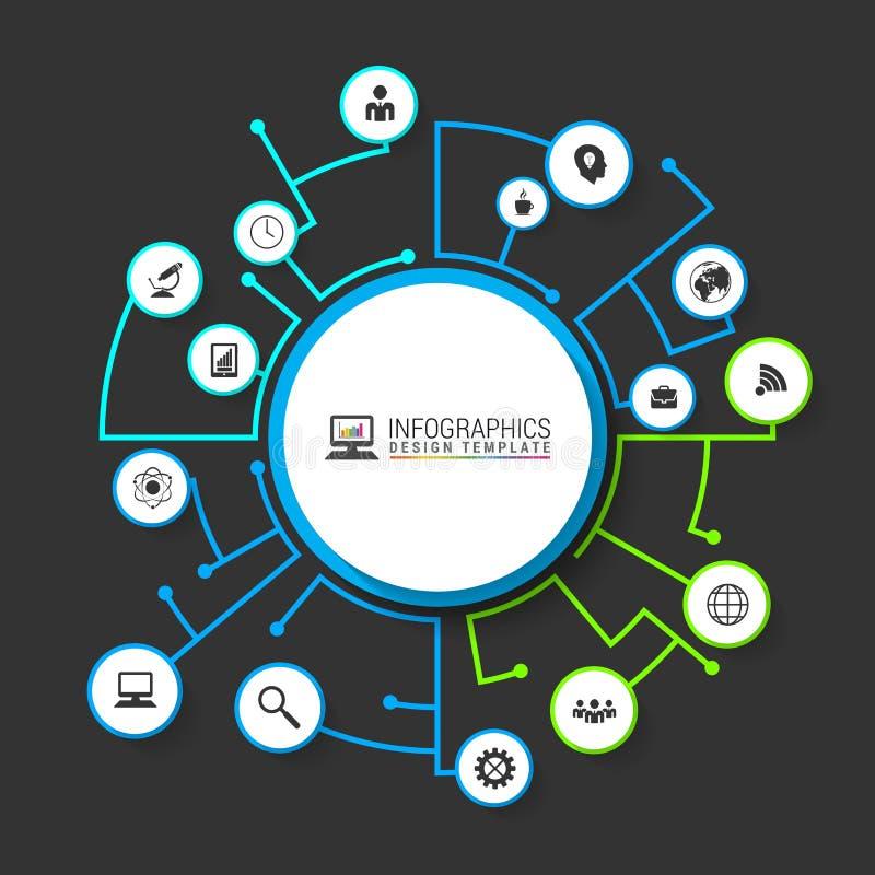 Σχέδιο προτύπων Infographic με τις γραμμές διάνυσμα απεικόνιση αποθεμάτων