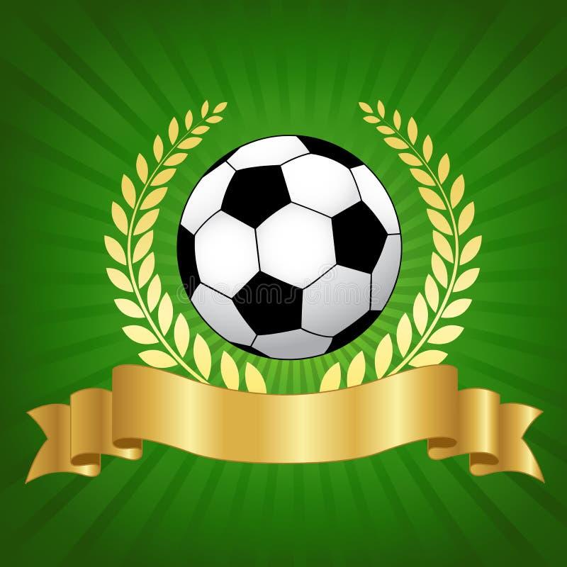 Σχέδιο πρωταθλήματος ποδοσφαίρου με το ποδόσφαιρο διανυσματική απεικόνιση