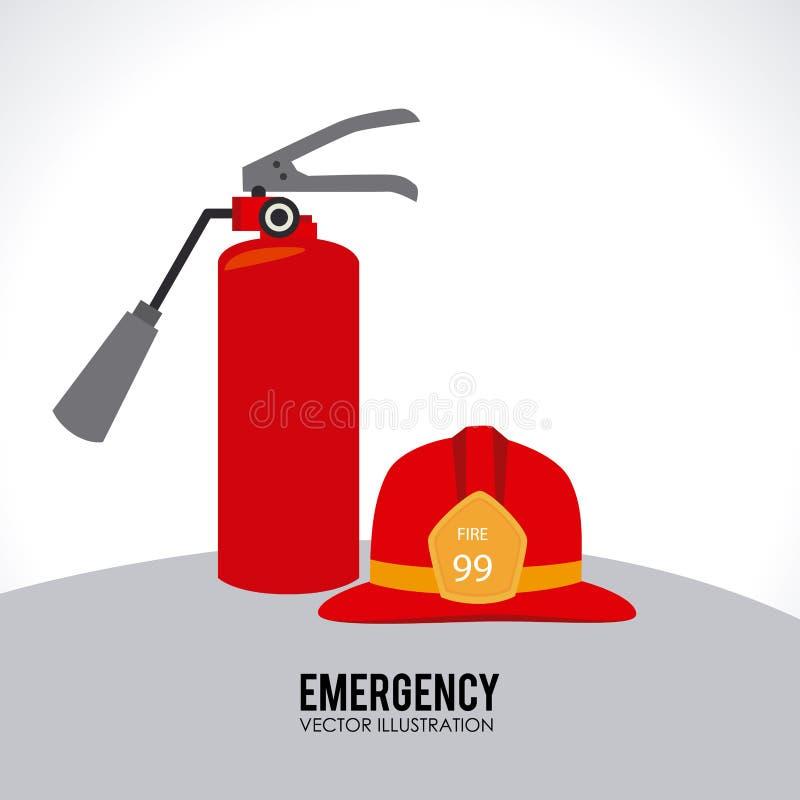 Σχέδιο πυροσβεστών διανυσματική απεικόνιση