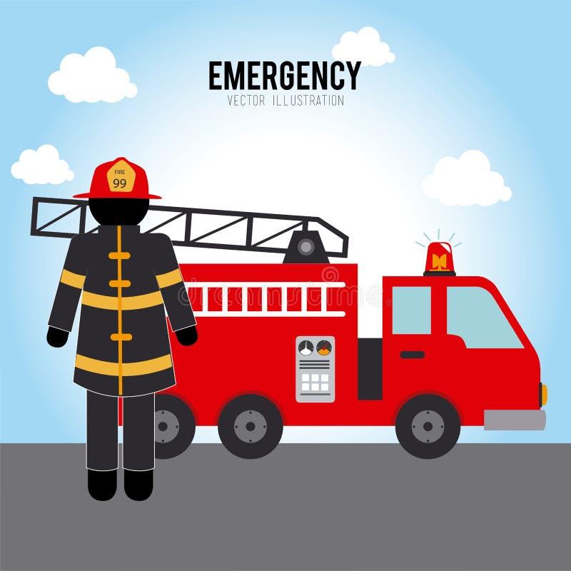Σχέδιο πυροσβεστών ελεύθερη απεικόνιση δικαιώματος