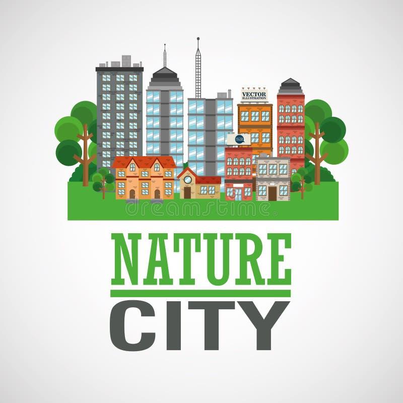 Σχέδιο πόλεων φύσης ελεύθερη απεικόνιση δικαιώματος