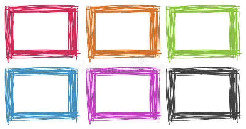 Σχέδιο πλαισίων στα διαφορετικά χρώματα απεικόνιση αποθεμάτων