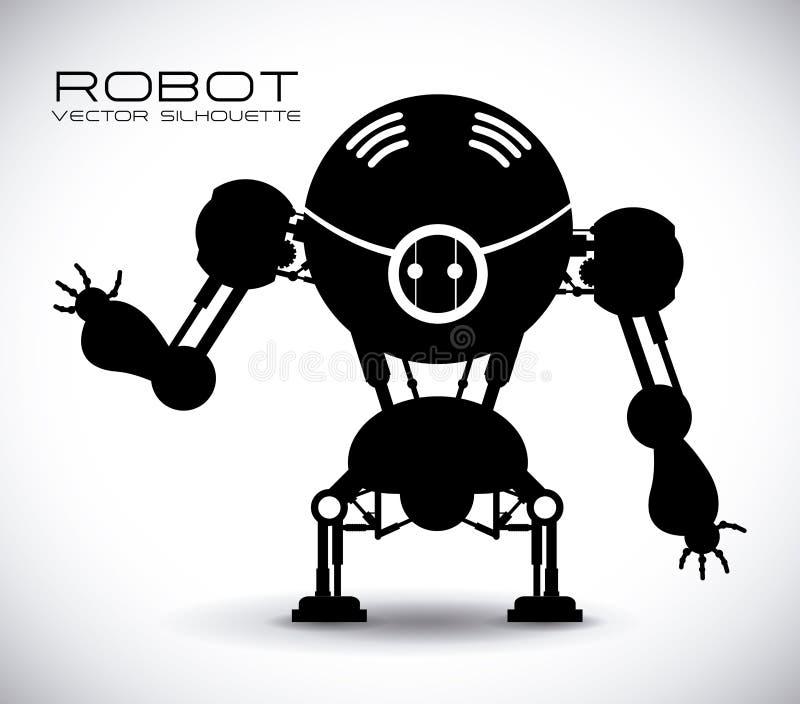 Σχέδιο ρομπότ ελεύθερη απεικόνιση δικαιώματος