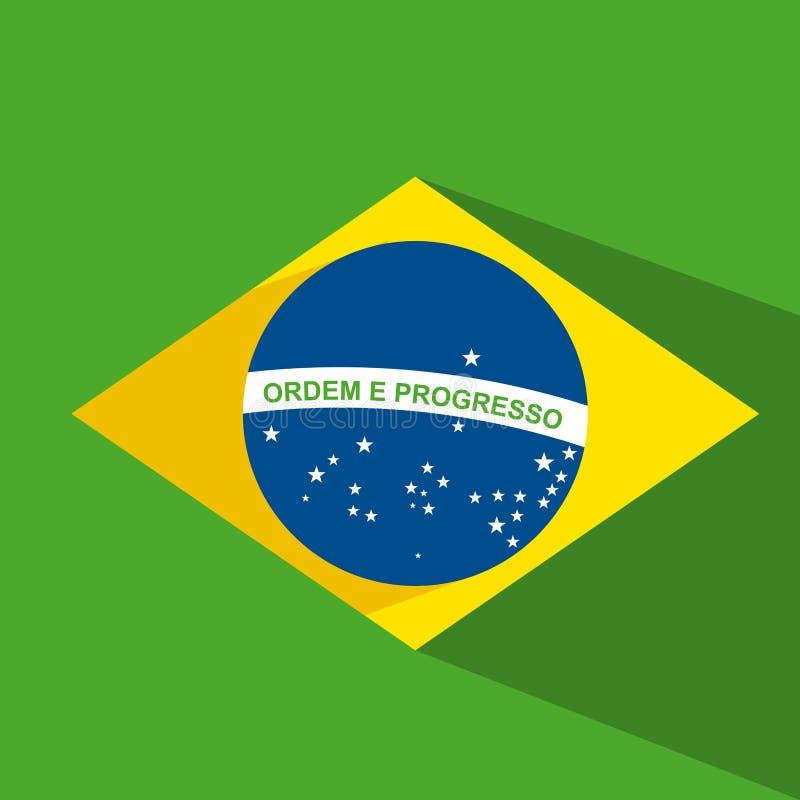 Σχέδιο σημαιών της Βραζιλίας ελεύθερη απεικόνιση δικαιώματος