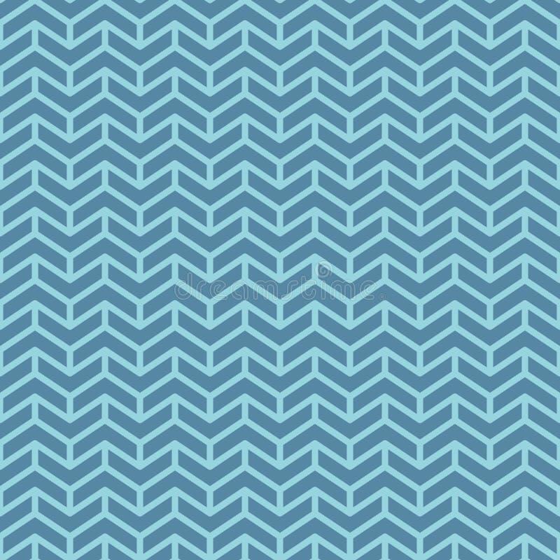 Σχέδιο σιριτιών Μπλε γεωμετρικά άνευ ραφής σχέδια για το σχέδιο Ιστού ελεύθερη απεικόνιση δικαιώματος