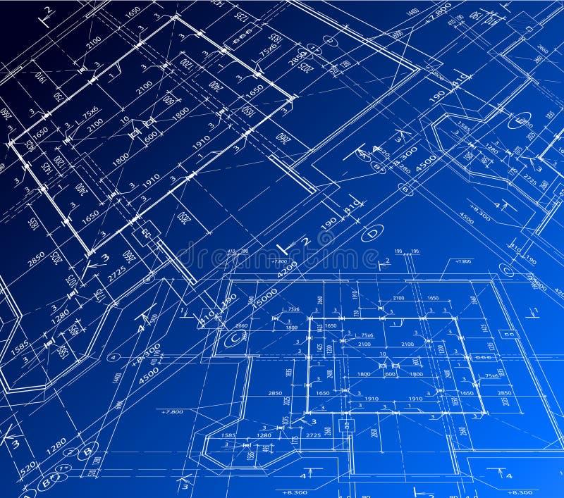 Σχέδιο σπιτιών. Διανυσματικό σχεδιάγραμμα απεικόνιση αποθεμάτων
