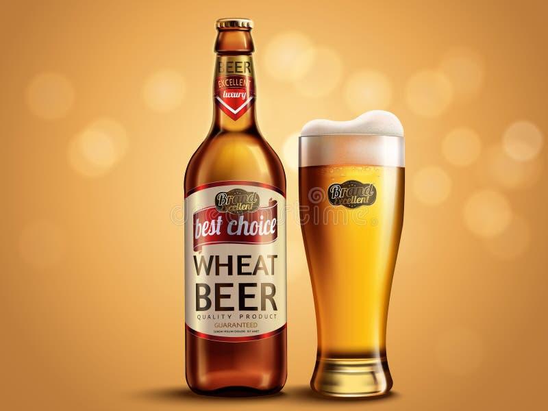 Σχέδιο συσκευασίας μπύρας σίτου απεικόνιση αποθεμάτων
