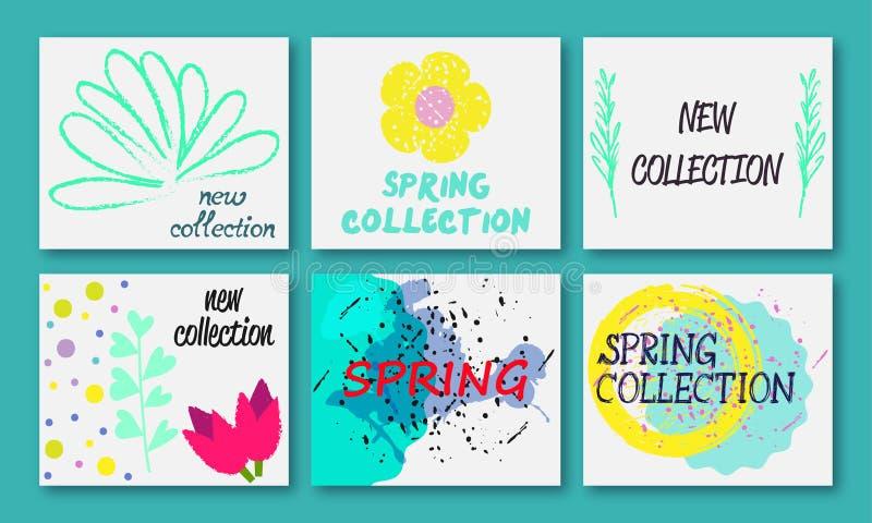 Σχέδιο συλλογής άνοιξη απεικόνιση αποθεμάτων