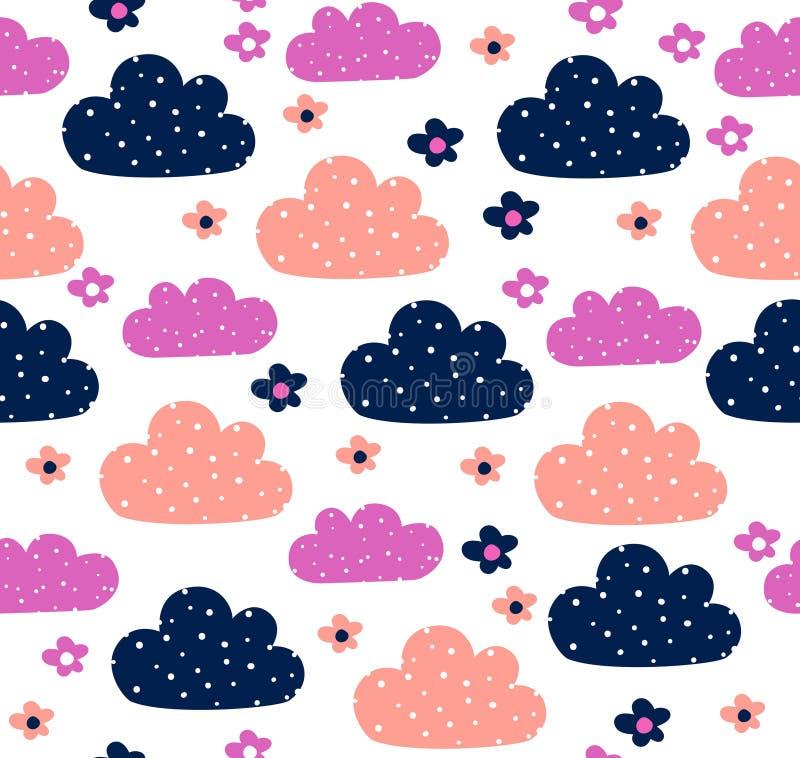 Σχέδιο σχεδίων σύννεφων στοκ εικόνες
