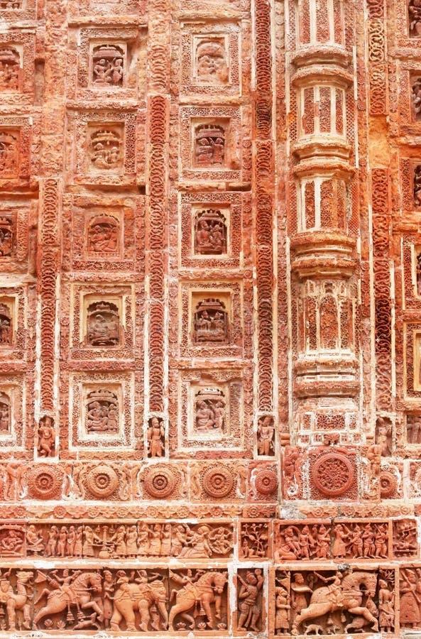 Σχέδιο τερακότας στον τοίχο του δημοφιλούς ναού Kantajew στοκ εικόνες με δικαίωμα ελεύθερης χρήσης