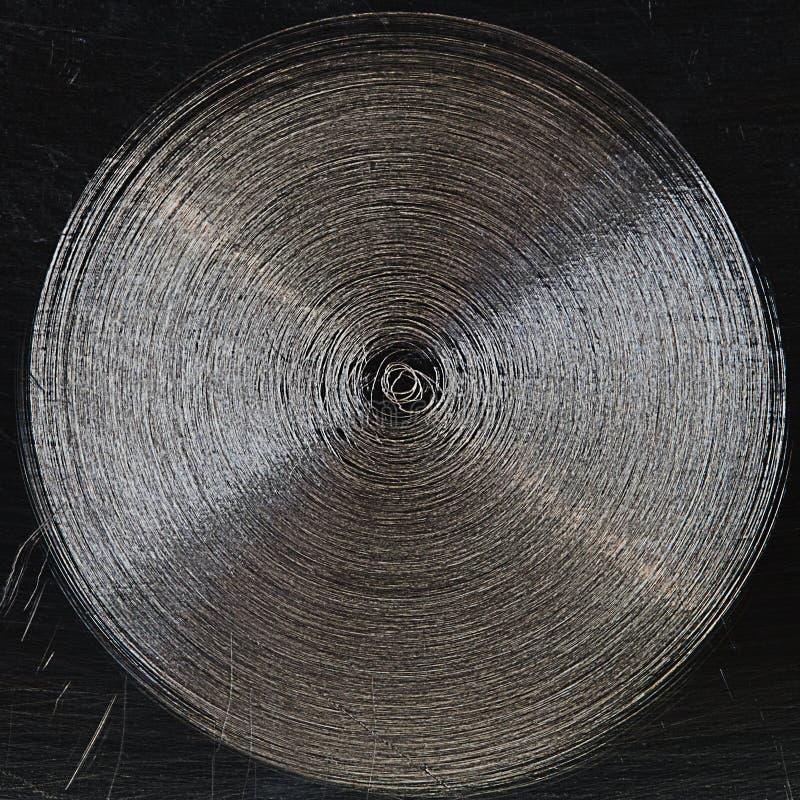 Σχέδιο της γρατσουνιάς στο χάλυβα στοκ φωτογραφία